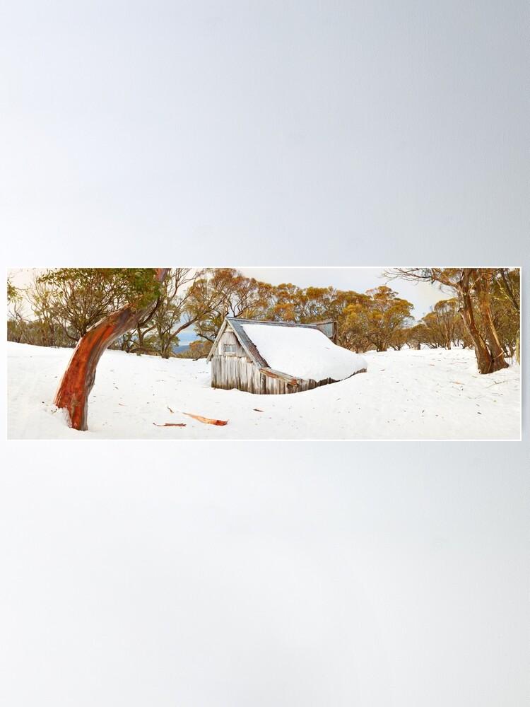 Alternate view of Snowed In, Wallace Hut, Falls Creek, Victoria, Australia Poster