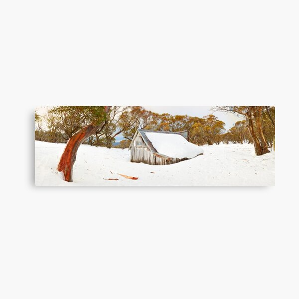 Snowed In, Wallace Hut, Falls Creek, Victoria, Australia Canvas Print