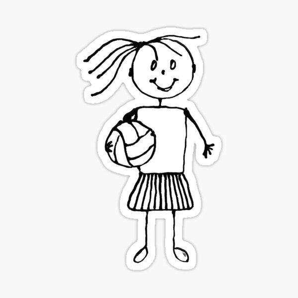 Netball For Me Sticker
