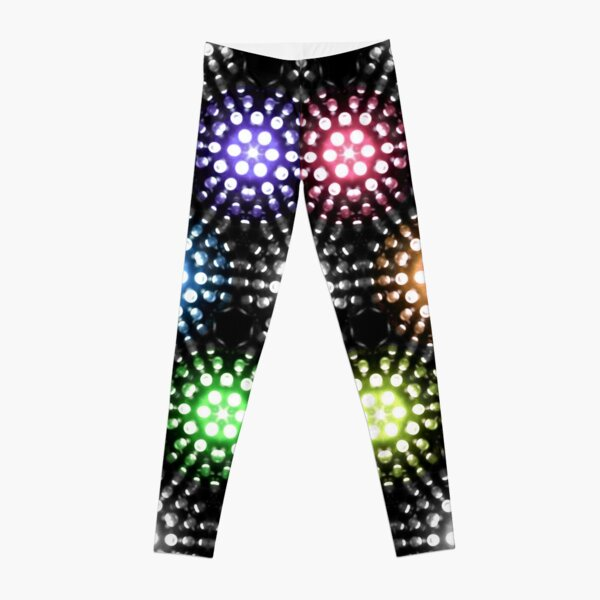 Lights - hexagon rainbow Leggings