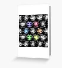 Lights - hexagon rainbow Greeting Card