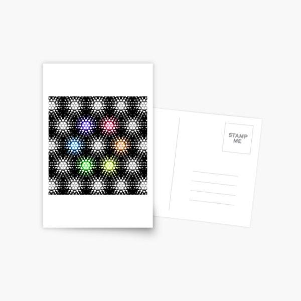 Lights - hexagon rainbow Postcard
