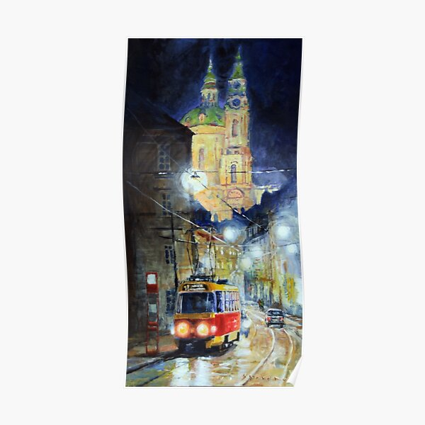 Midnight Tram  Prague  Karmelitska str Poster