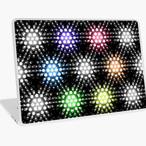 Lights - hexagon rainbow Laptop Skin