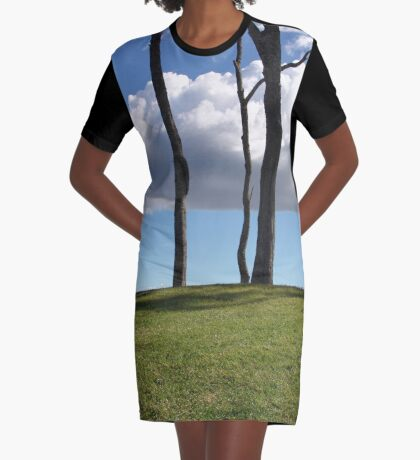 Over The Hill Graphic T-Shirt Dress