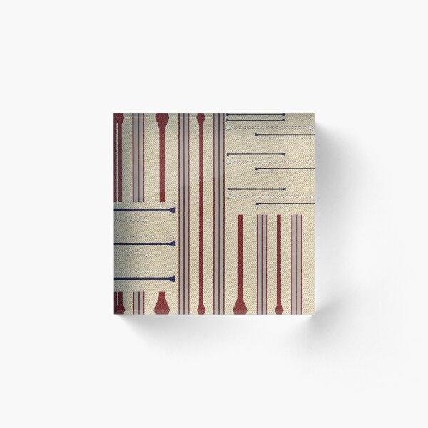 Modern Ticking Stripe Acrylic Block