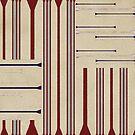 Modern Ticking Stripe by SandAndChi