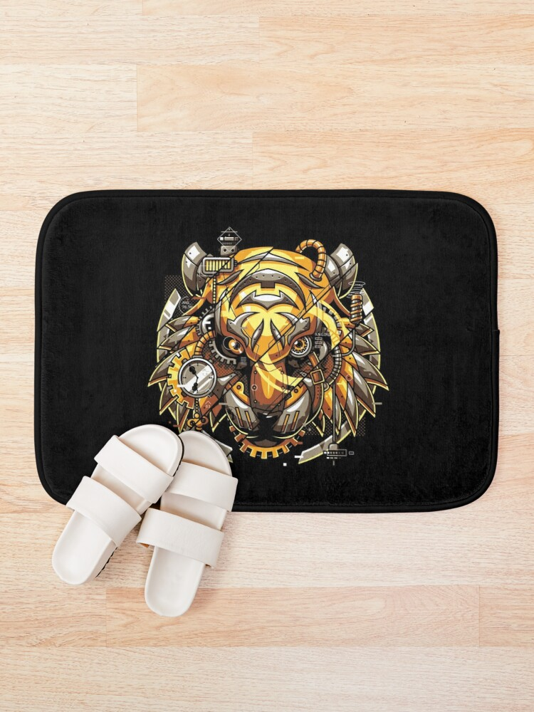 Alternate view of Digitalized Tiger Bath Mat