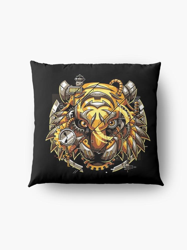 Alternate view of Digitalized Tiger Floor Pillow