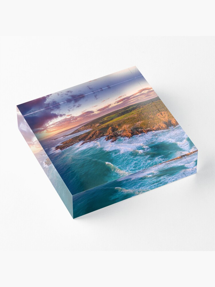 Alternate view of Wyadup Rocks at Sunset Acrylic Block