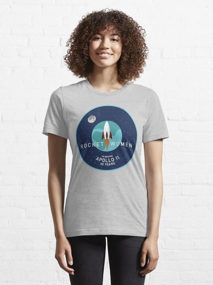 Alternate view of  Rocket Women - Apollo 11 50th Anniversary Logo Essential T-Shirt