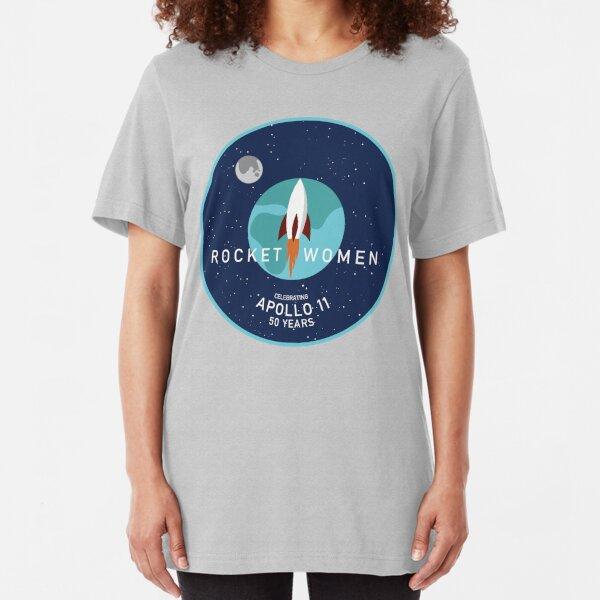 Rocket Women - Apollo 11 50th Anniversary Logo Slim Fit T-Shirt