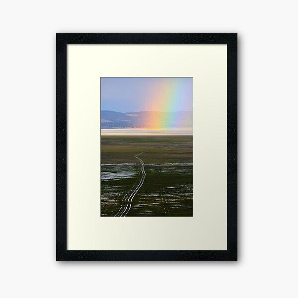 Lake George Rainbow Framed Art Print