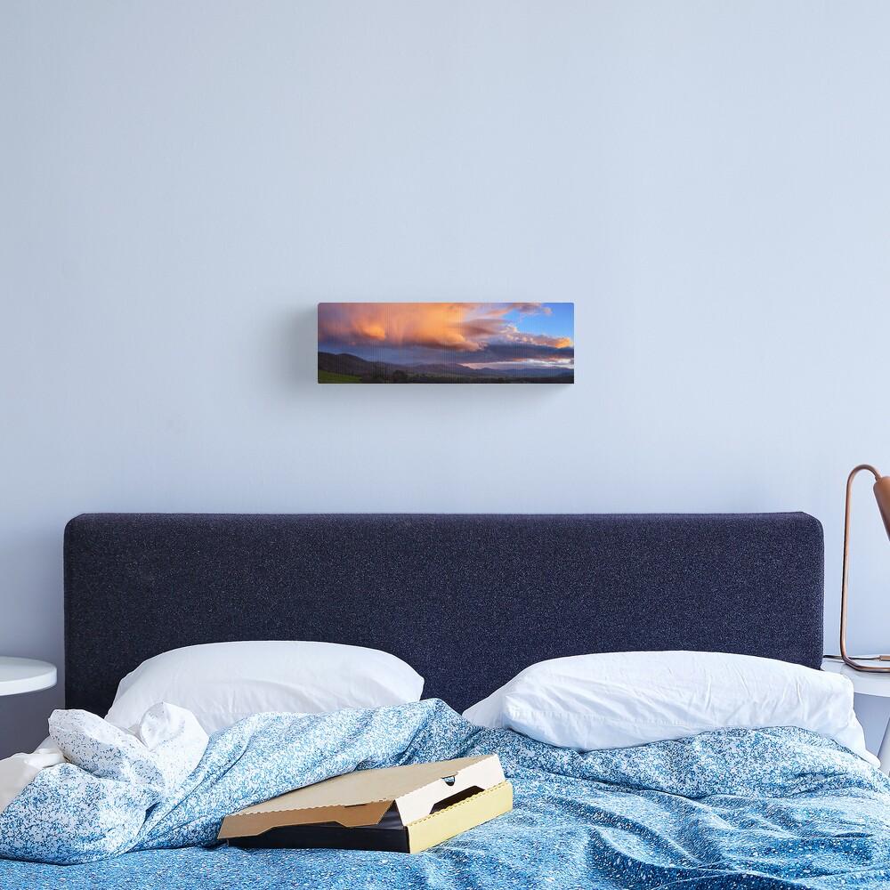 Stormy Sunset over Happy Valley, Myrtleford, Victoria, Australia Canvas Print