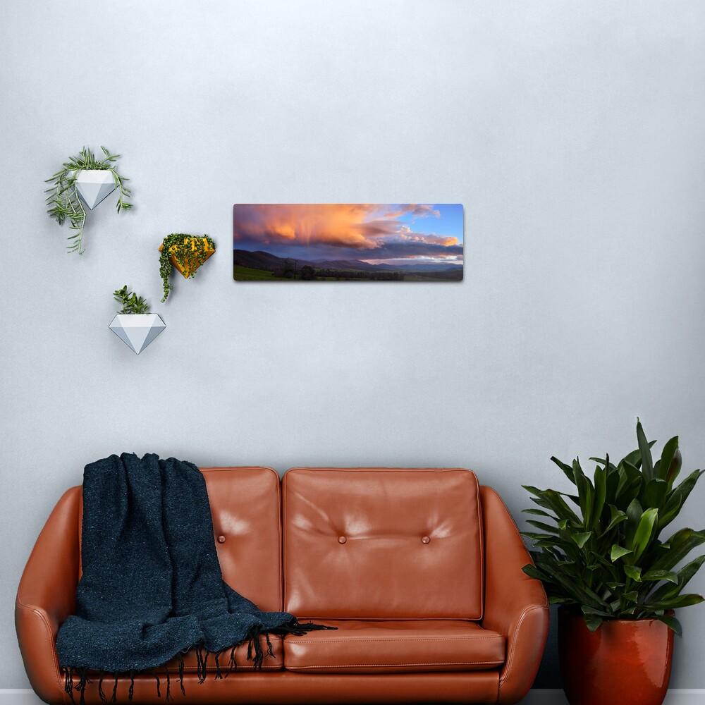 Stormy Sunset over Happy Valley, Myrtleford, Victoria, Australia Metal Print