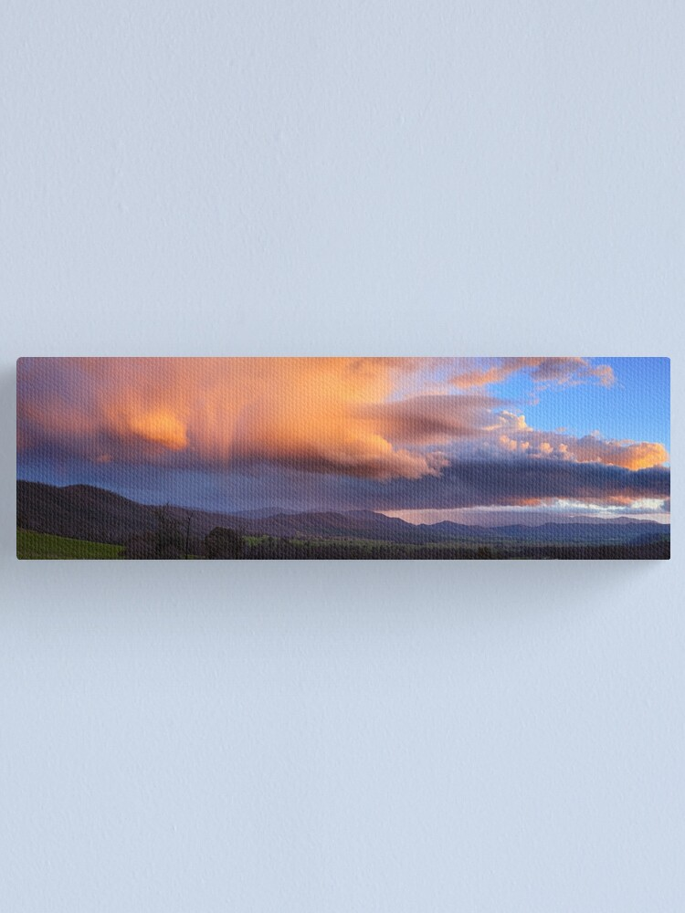 Alternate view of Stormy Sunset over Happy Valley, Myrtleford, Victoria, Australia Canvas Print