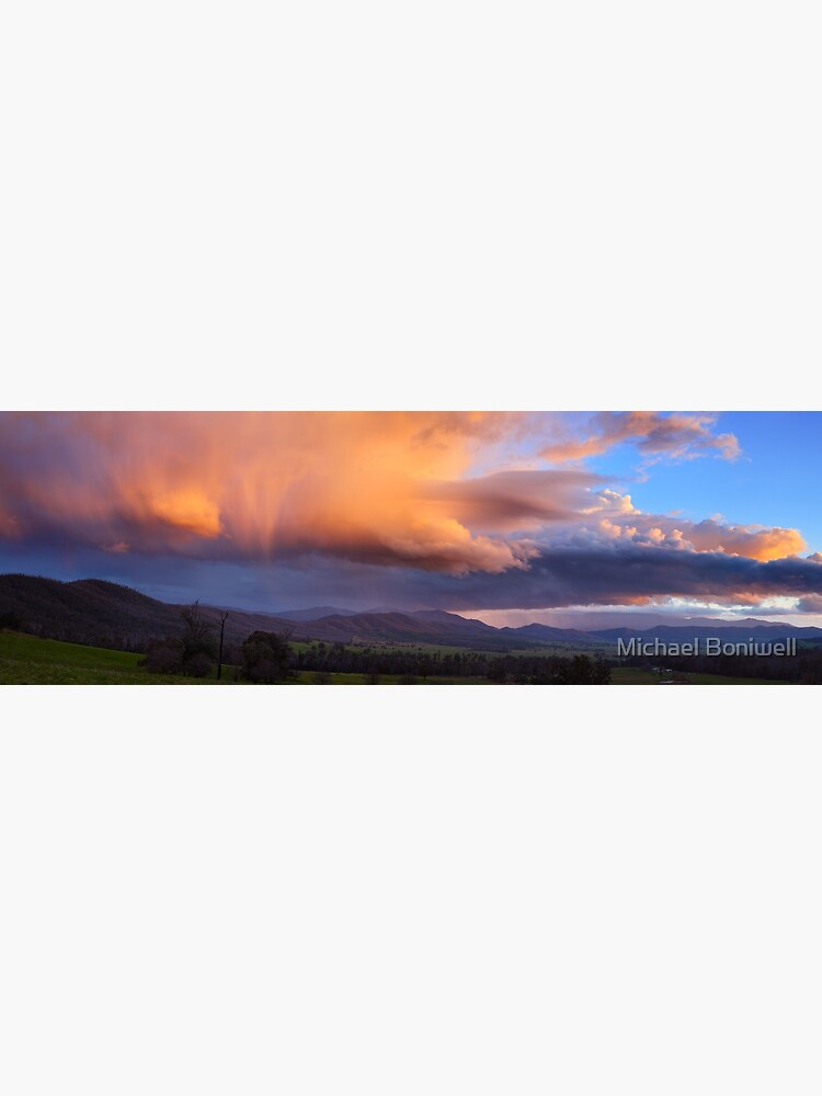 Stormy Sunset over Happy Valley, Myrtleford, Victoria, Australia by Chockstone