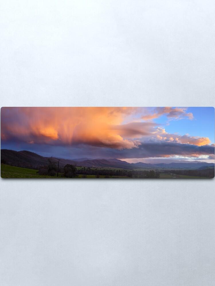Alternate view of Stormy Sunset over Happy Valley, Myrtleford, Victoria, Australia Metal Print