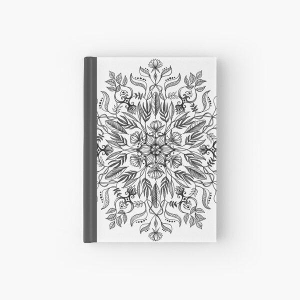 Thrive - Monochrome Mandala Hardcover Journal