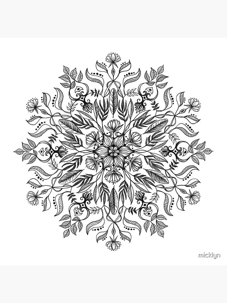 Thrive - Monochrome Mandala by micklyn