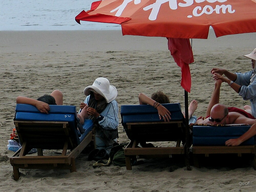 pampering on the beach non-negotiable by geof