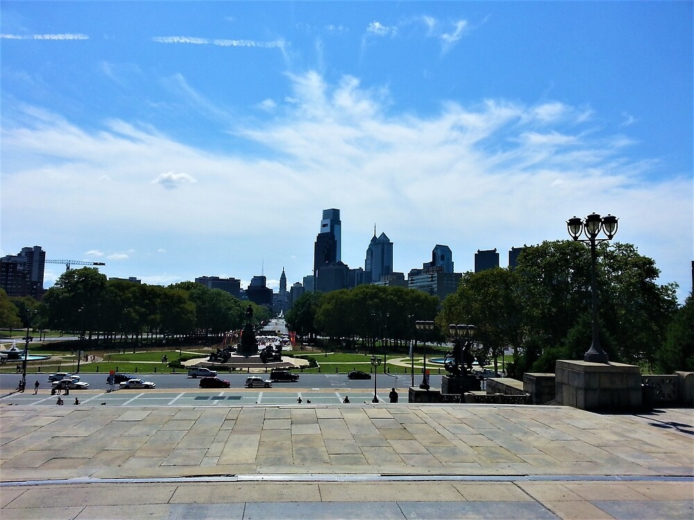 Philadelphia from the Philadelphia Museum of Art by tomeoftrovius