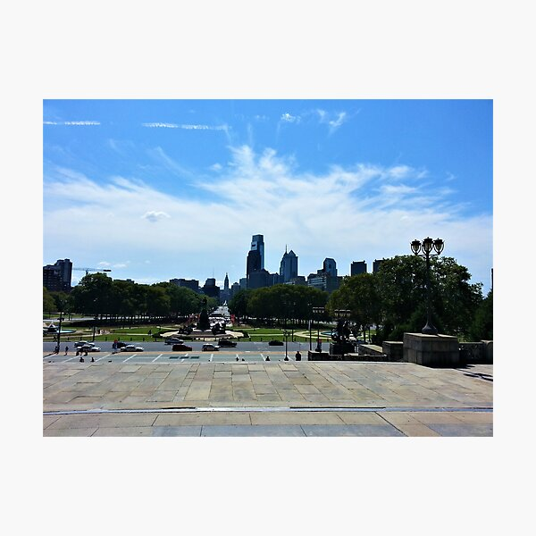 Philadelphia from the Philadelphia Museum of Art Photographic Print