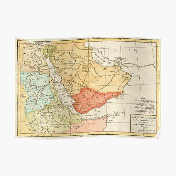 Vintage Map of Saudi Arabia (1780) Poster