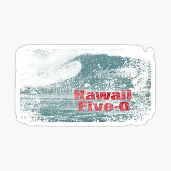 Hawaii cinq à 0. Classique. Jack Lord. Livre 'em Danno. Sticker