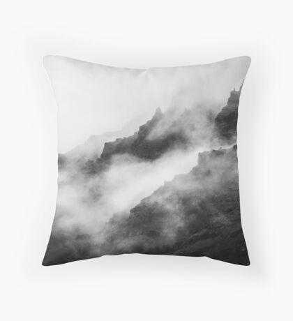 Montañas de niebla gris Cojín de suelo