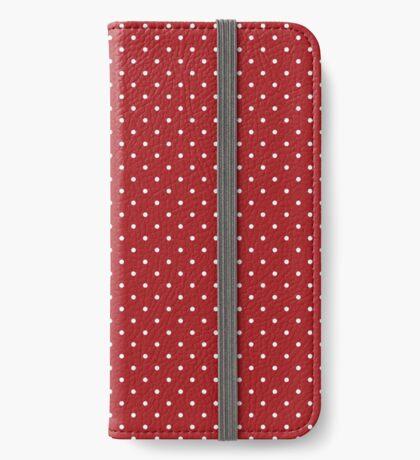 Rojo punteado Funda tarjetero para iPhone