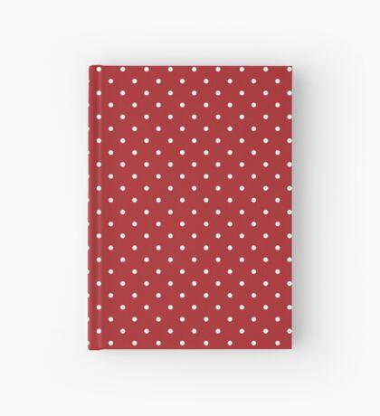 Rojo punteado Cuaderno de tapa dura