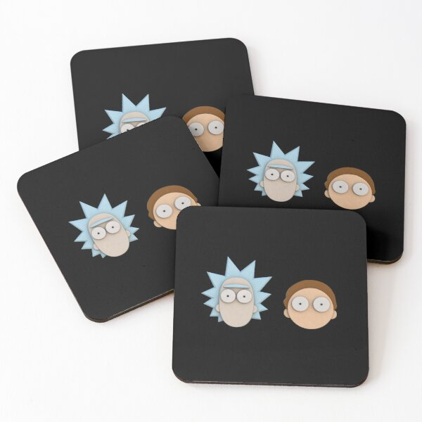 Rick And Morty - 3D Coasters (Set of 4)