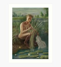 Young Pan Catches Syrinx Art Print