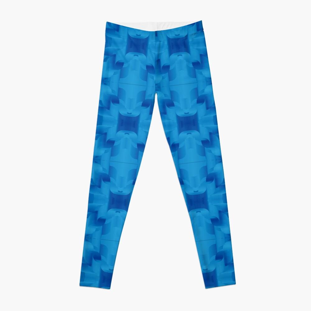 Blue is digital: Scream with me Leggings