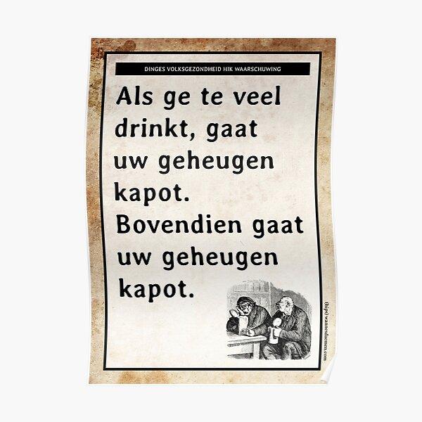 Dinges volksgezondheid hik waarschuwing Poster