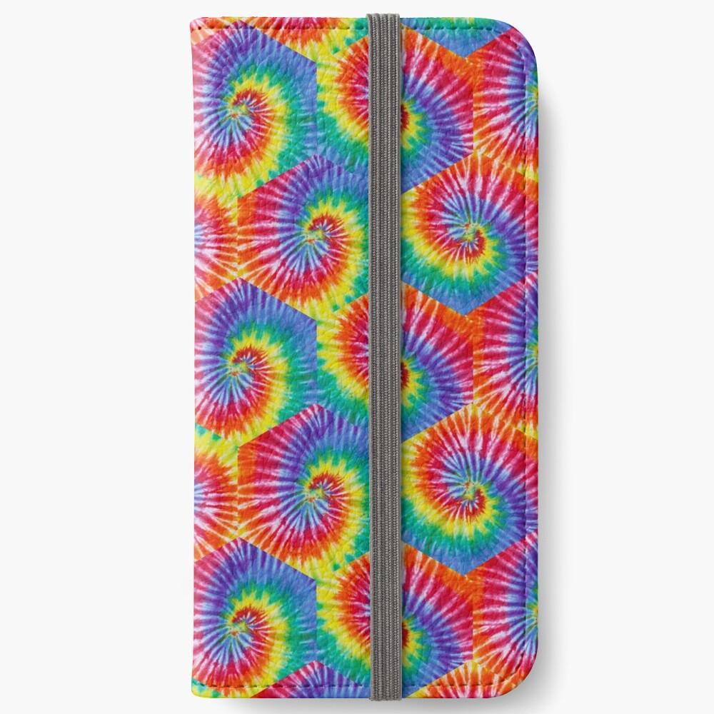 Tie-Dye Hexagon Psychedelic Bohemian Hippie Festival 60's Funky 70's iPhone Wallet
