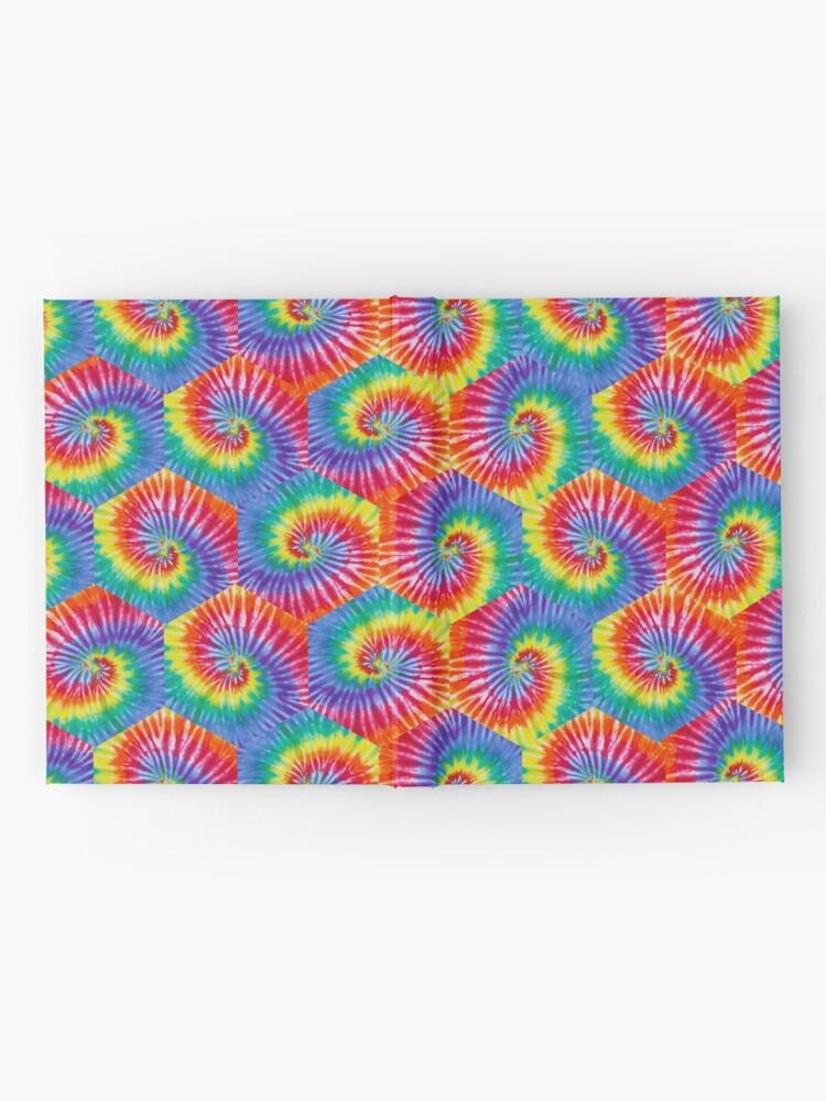 Alternate view of Tie-Dye Hexagon Psychedelic Bohemian Hippie Festival 60's Funky 70's Hardcover Journal