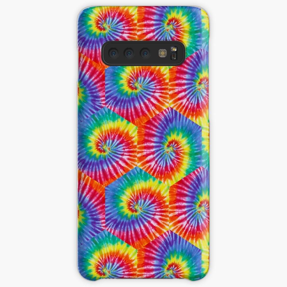 Tie-Dye Hexagon Psychedelic Bohemian Hippie Festival 60's Funky 70's Case & Skin for Samsung Galaxy