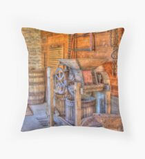 Old Cider Press Throw Pillow