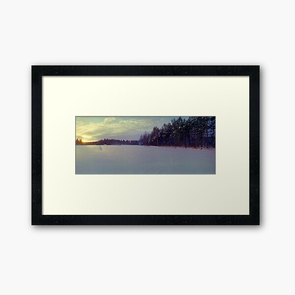 Winter Field, Finland (1996) Framed Art Print