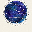 Blue and gold galaxy by Sybille Sterk