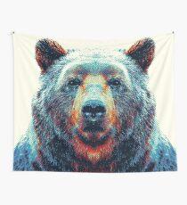 Bär - bunte Tiere Wandbehang
