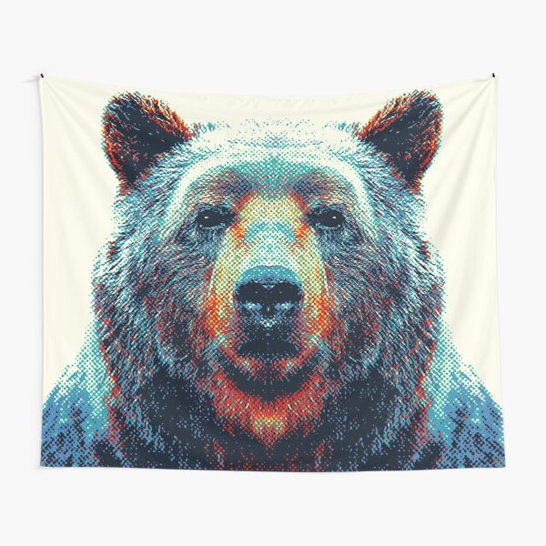 Bear - Colorful Animals Tapestry
