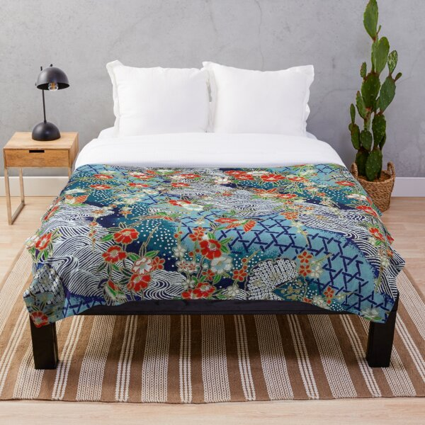 Japanese River Throw Blanket