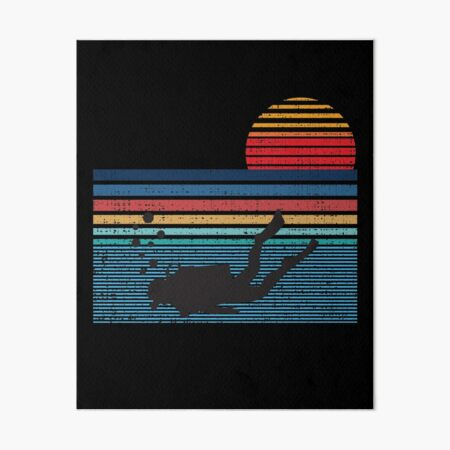 Vintage Retro Scuba Diving Gifts For Scuba Diver Art Board Print
