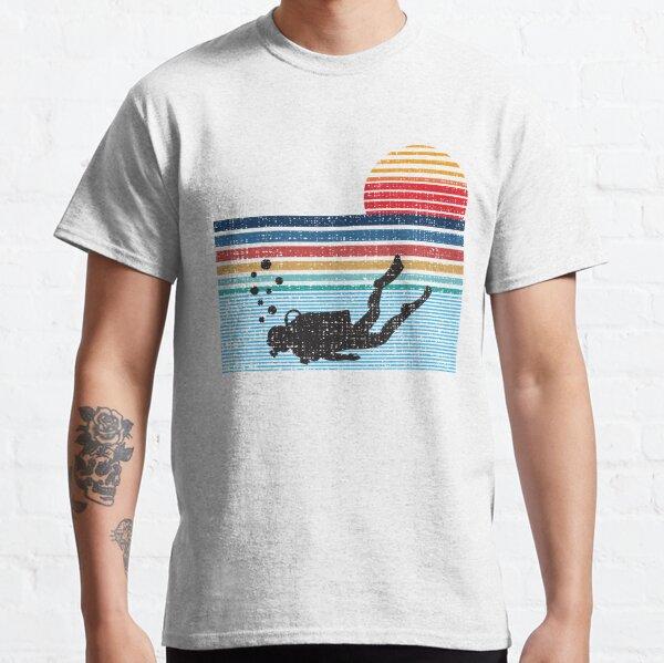 Vintage Retro Scuba Diving Gifts For Scuba Diver Classic T-Shirt