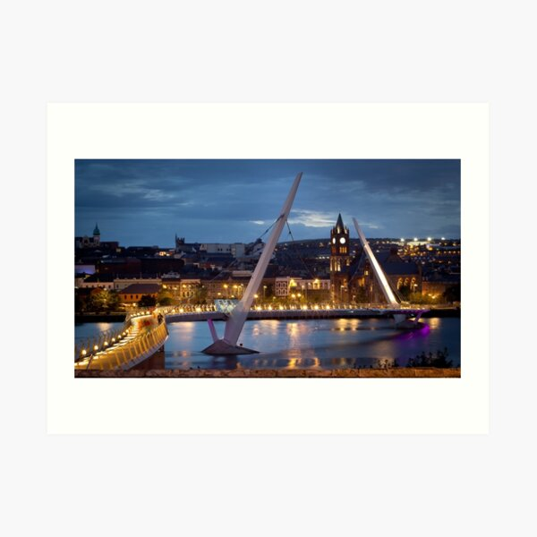 The Peace Bridge - Derry City Art Print