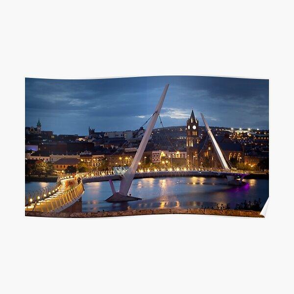 The Peace Bridge - Derry City Poster