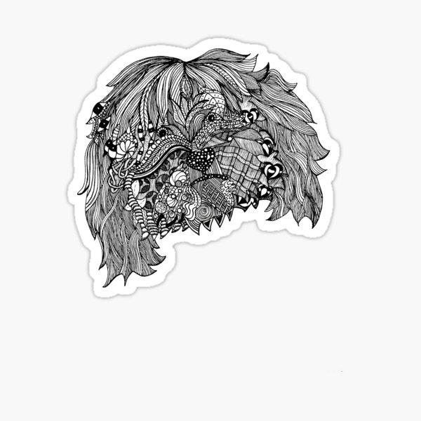 Tibet Terrier Gekritzel Sticker